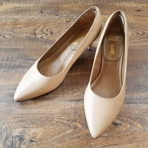 e6f5403ea75 Clarks Shoes - Clarks Crewso Wick Heel Nude